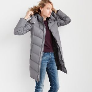 ⬇️ gap | chevron down puffer jacket, grey.